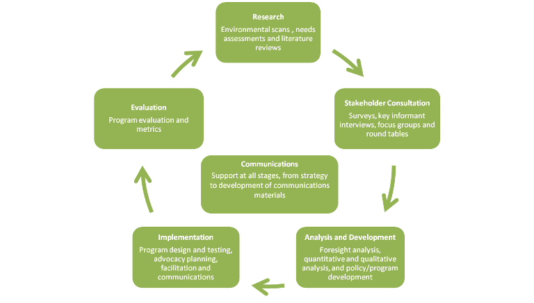 Policy Development and Program Evaluation Process and Services